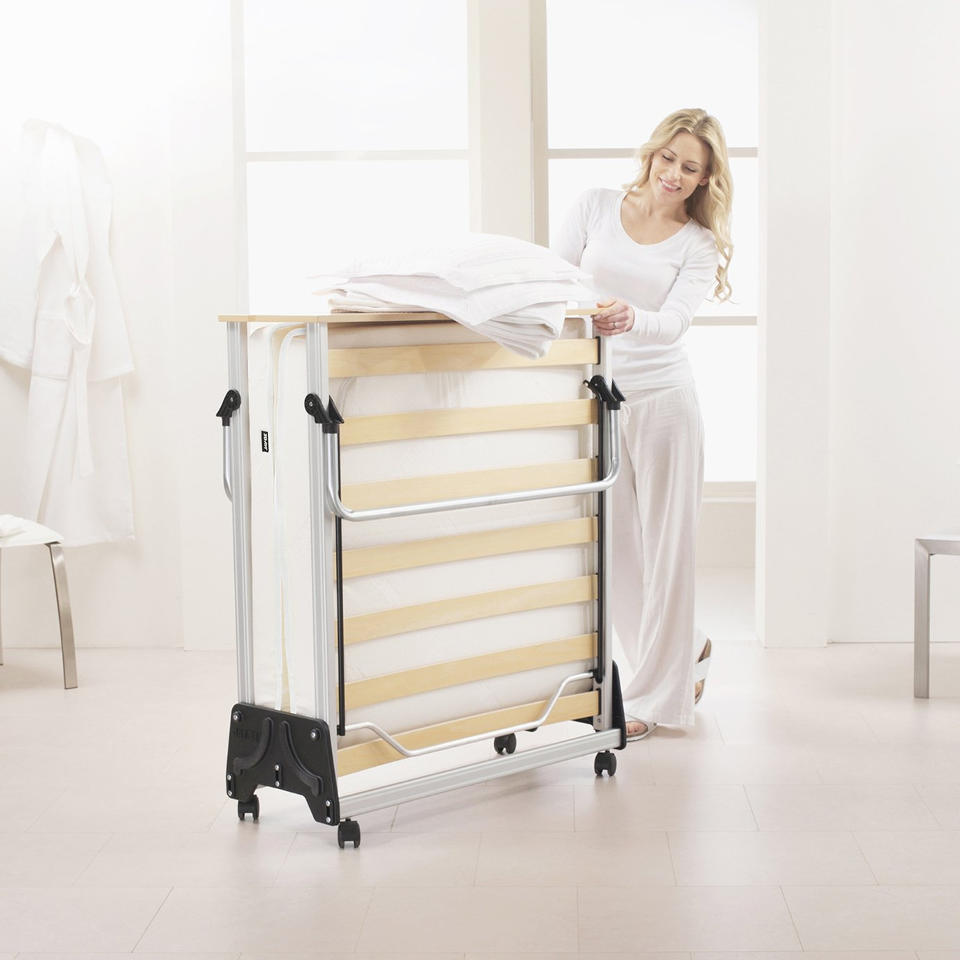 Jay-Be J-Bed Folding Guest Bed with Memory Mattress ...