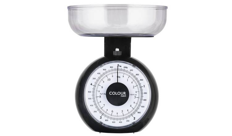 White Duck Black Mechanical Bathroom Scale Accurately Gauge Your Weight