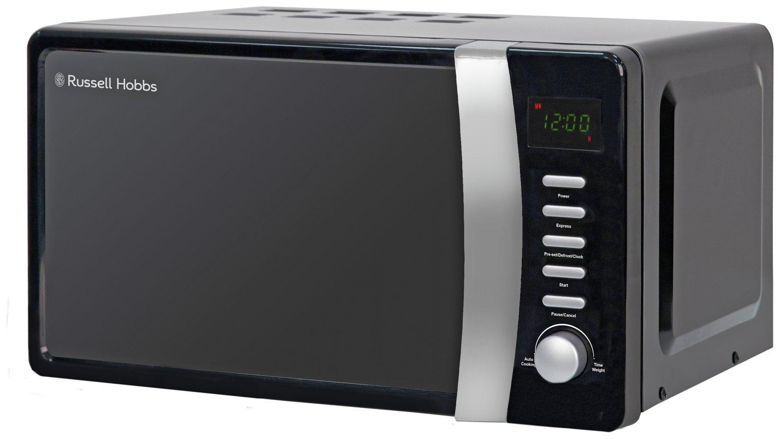 Russell Hobbs 700W Standard Microwave RHMD702 - Black