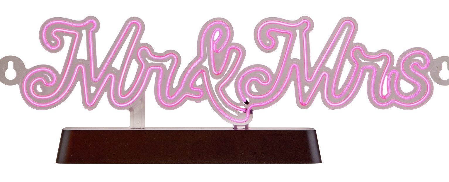 Light Up Mr & Mrs Message Board