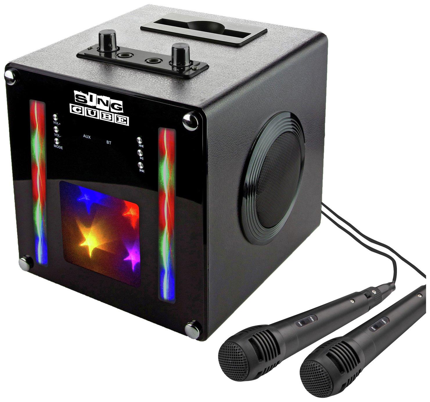 RockJam SingCube Bluetooth Karaoke Machine - Black