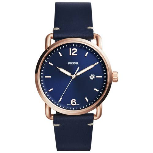 bdacbf080 Buy Fossil Commuter Men's Navy Blue Leather Strap Watch | Men's ...