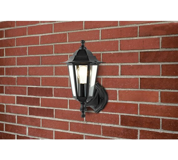 Buy argos home outdoor wall lantern black wall lights and argos home outdoor wall lantern black aloadofball Choice Image