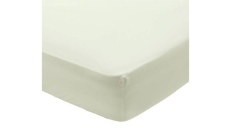 Argos Home 400TC Egyptian Cotton 35cm Fitted Sheet - Single