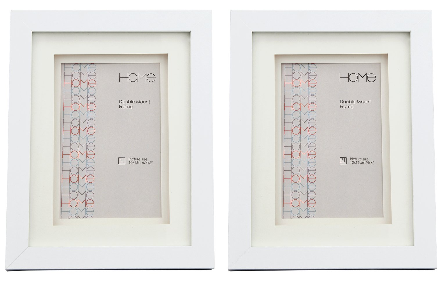 Argos Home Set of 2 4x6 Inch Double Mount Frames review