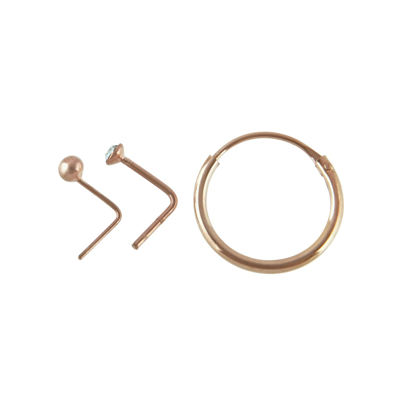 State of Mine Rose Gold Plated Nose Hoop & Studs review