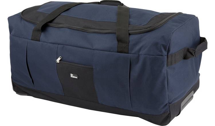 Go Explore Large Navy Blue Wheeled Holdall