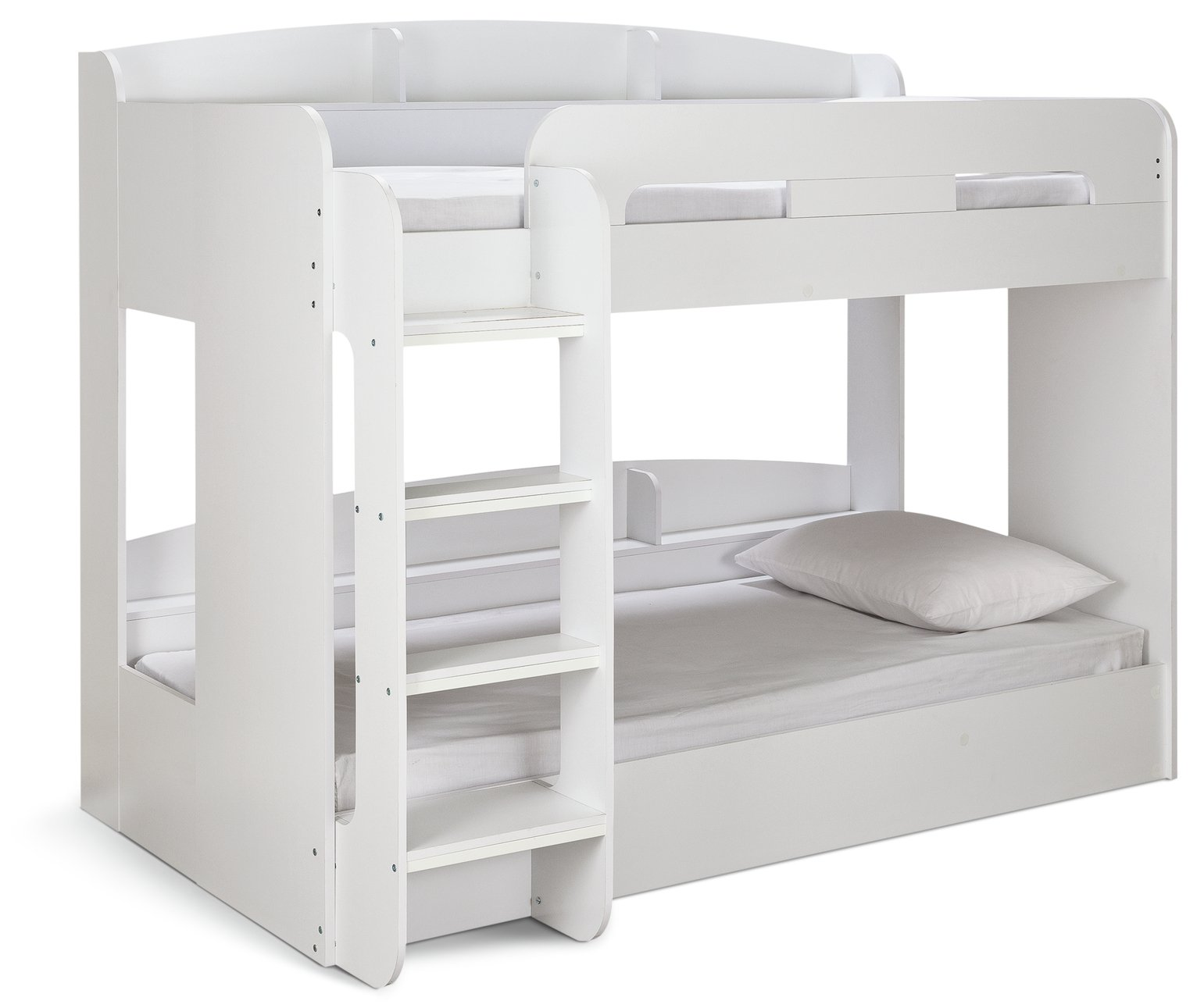 Argos Home Ultimate White Single Bunk Bed & 2 Mattresses