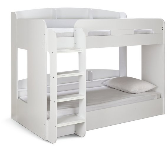 Buy Argos Home Ultimate White Single Bunk Bed 2 Mattresses Kids