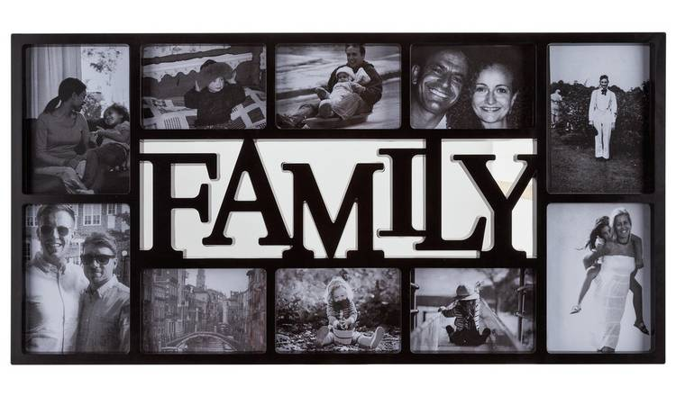 Argos Home Family 10 Print Photo Frame - Black