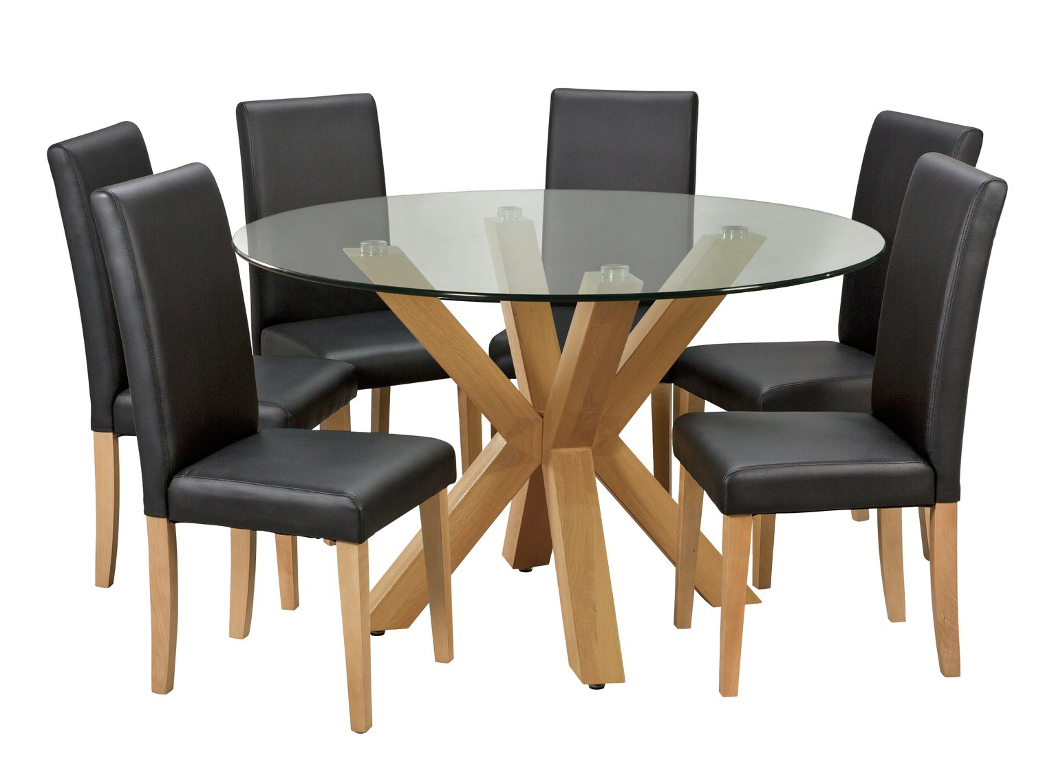 Argos Home Alden Glass Round Table & 6 Chairs review