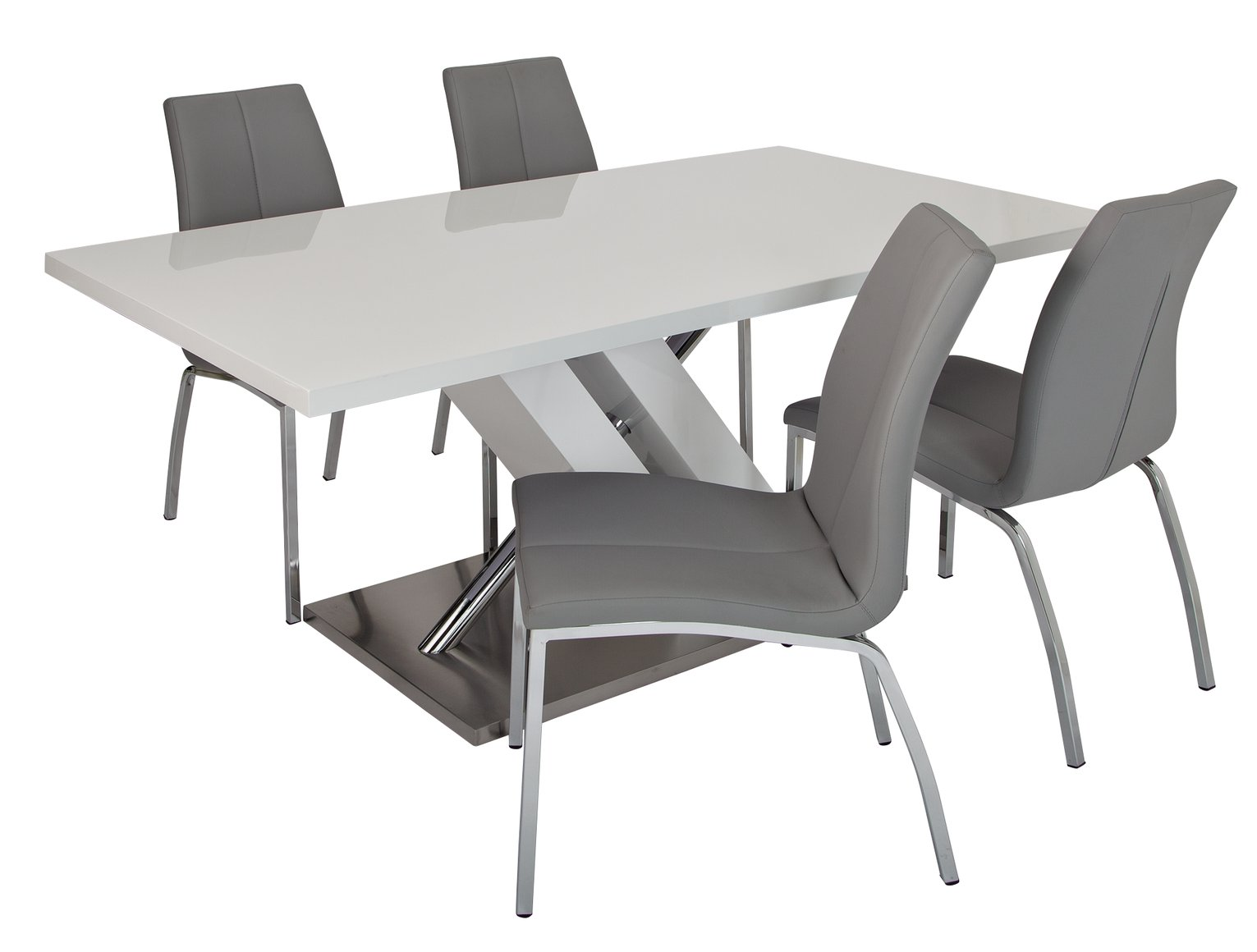 Argos Home Belvoir Pedestal Table and 4 Chairs - Grey  sc 1 st  Argos & Buy Argos Home Belvoir Pedestal Table and 4 Chairs - Grey | Dining ...