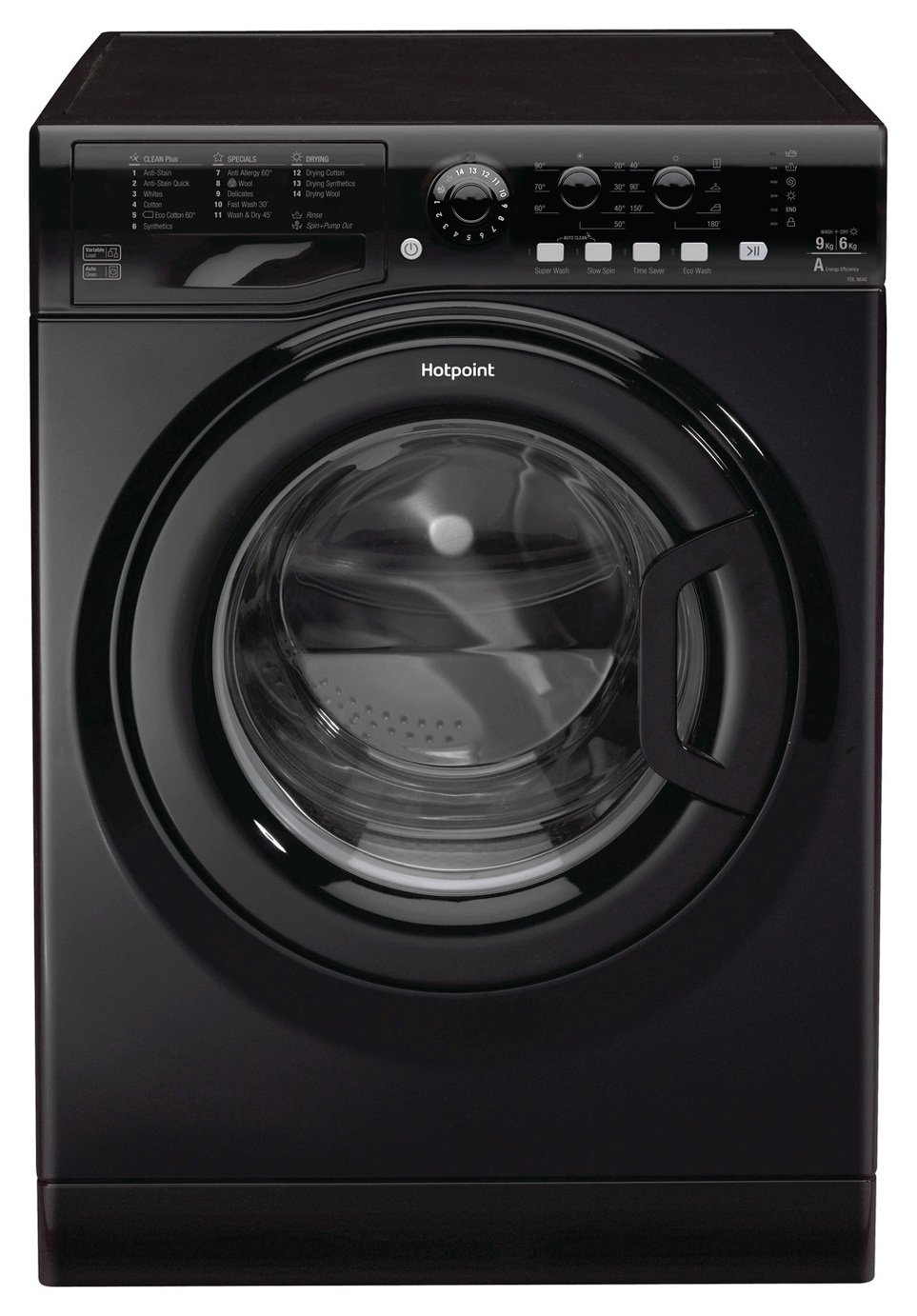 Hotpoint FDL9640K 9KG/6KG Washer Dryer - Black