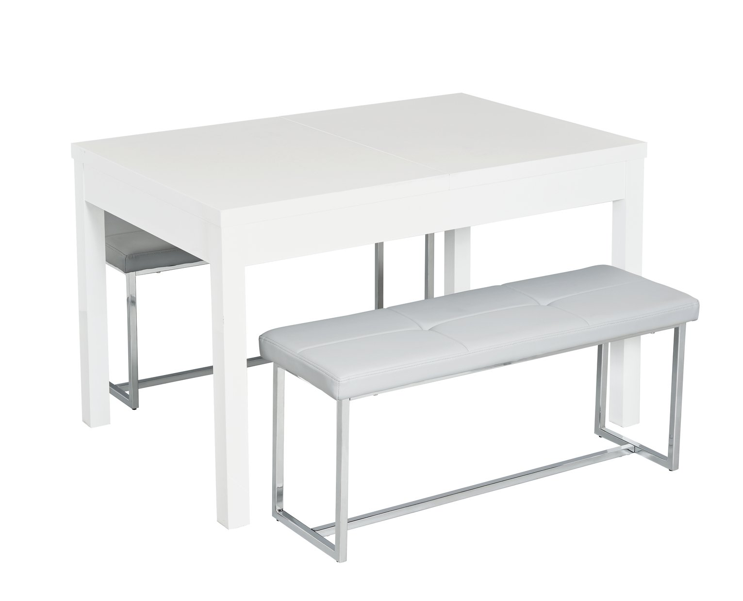 Argos Home Lyssa Wood Effect Extendable Table and Milo Benches at Argos review