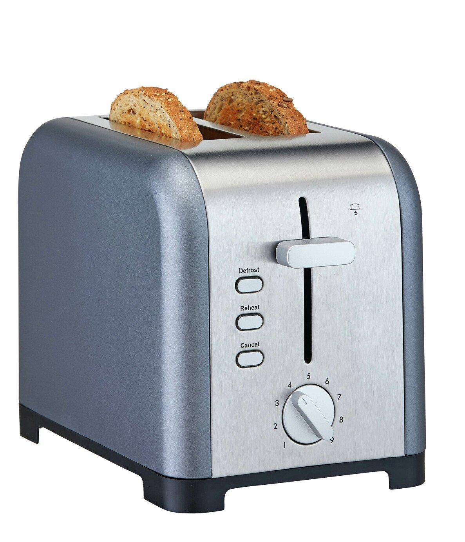 Cookworks 2 Slice Toaster - Grey