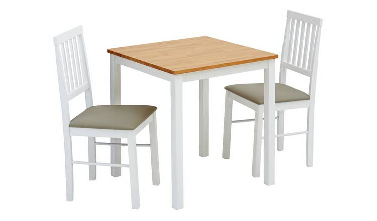 Argos Home Kendal Solid Wood Table & 2 Two Tone Chairs