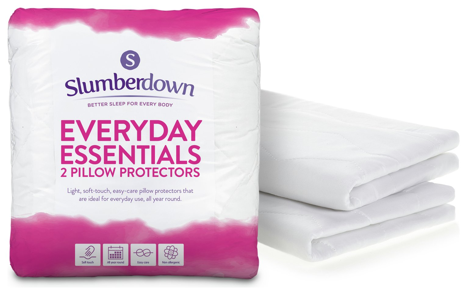 Slumberdown Everyday Essentials Pillow Protector Pair