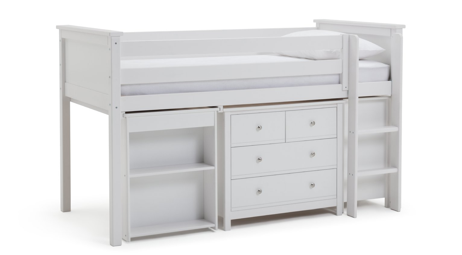Argos Home Brooklyn White Ultimate Mid Sleeper & Mattress
