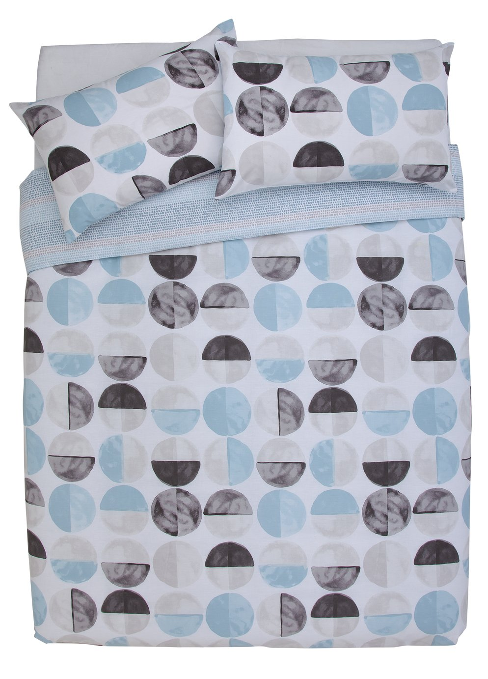 Argos Home Blue Circles Bedding Set - Kingsize