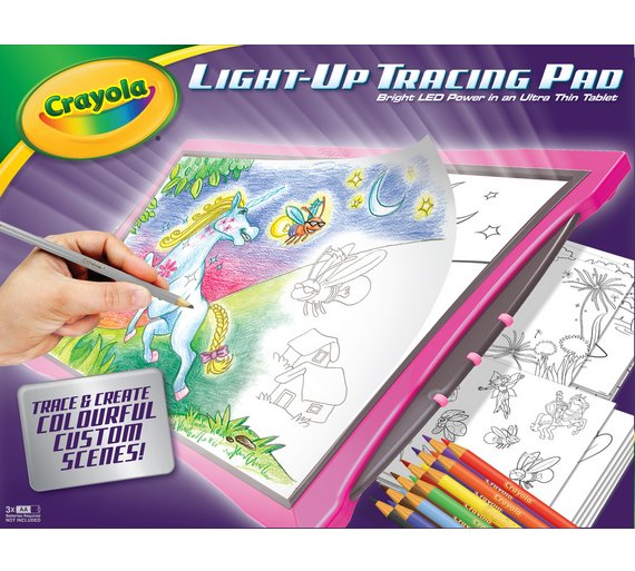 buy crayola light up tracing pad painting drawing and colouring