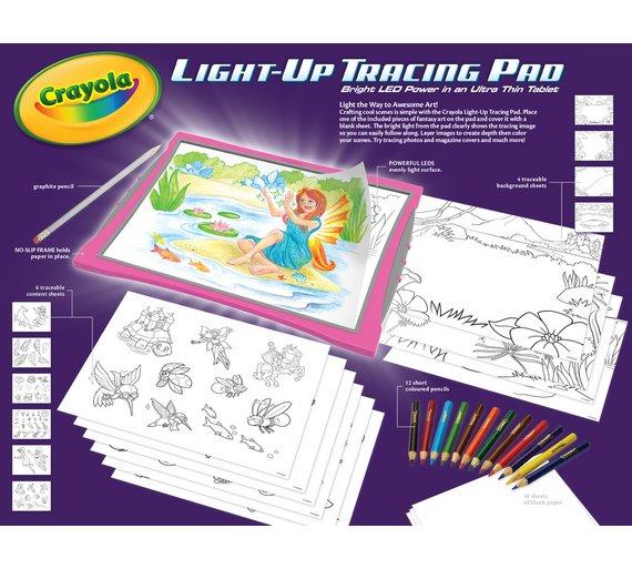 Buy Crayola Light Up Tracing Pad Painting Drawing And