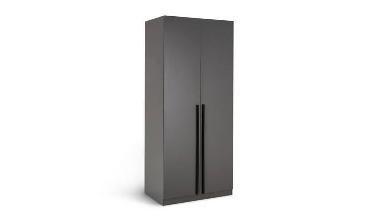 Habitat Munich 2 Door Wardrobe - Anthracite
