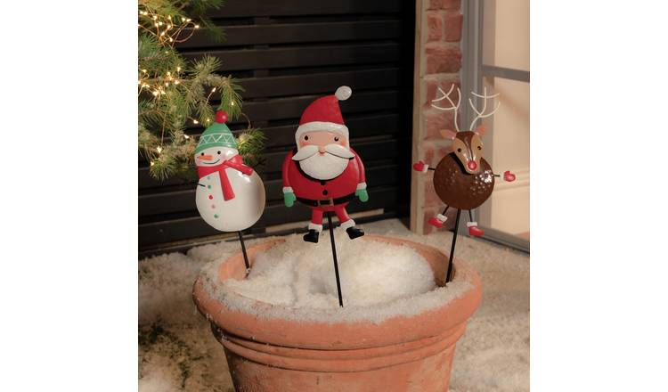 Argos Home 3 Pack of Christmas Character Stakes