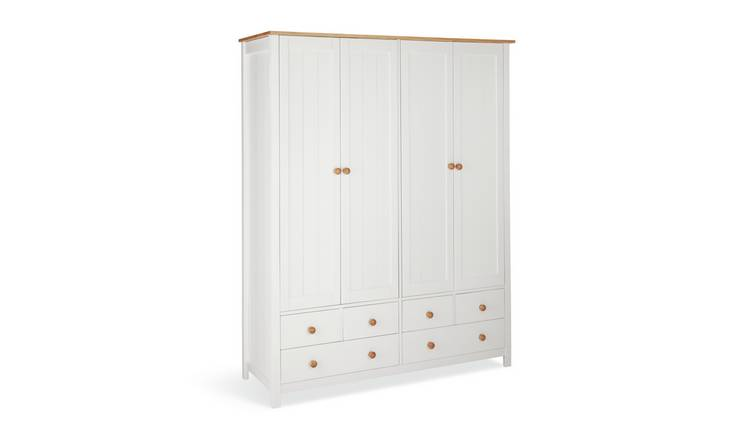 Habitat Scandinavia 4 Door 6 Drawer Wardrobe - Two Tone