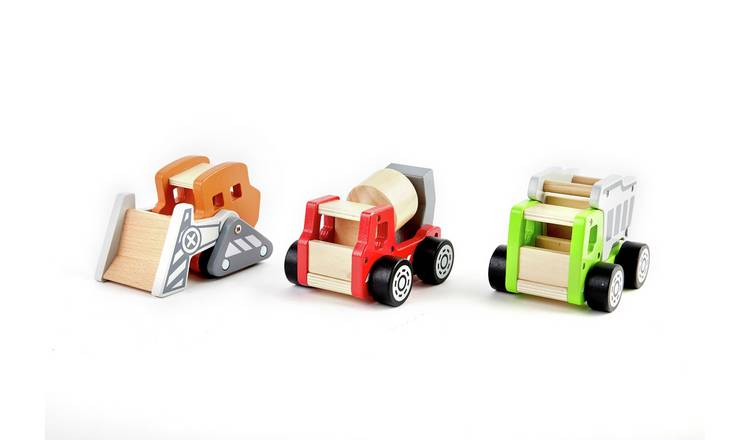 Chad Valley Wooden Vehicles Construction Set - 3 Pack