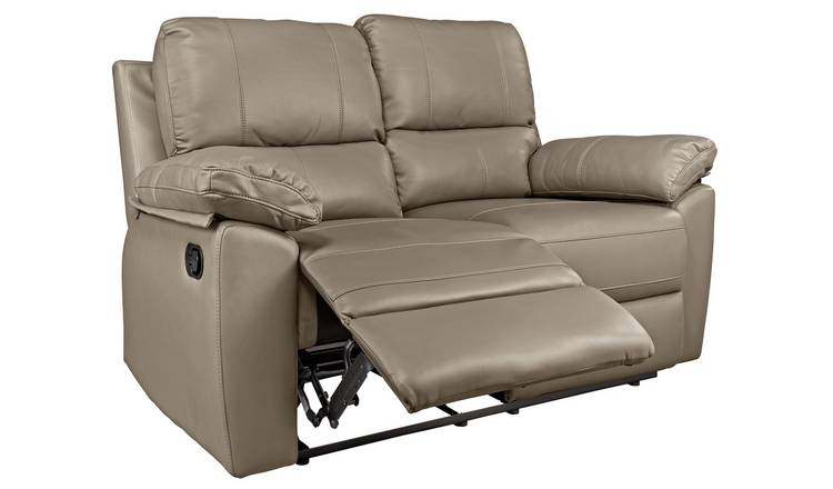 Buy Argos Home Toby 2 Seater Faux Leather Recliner Sofa Grey