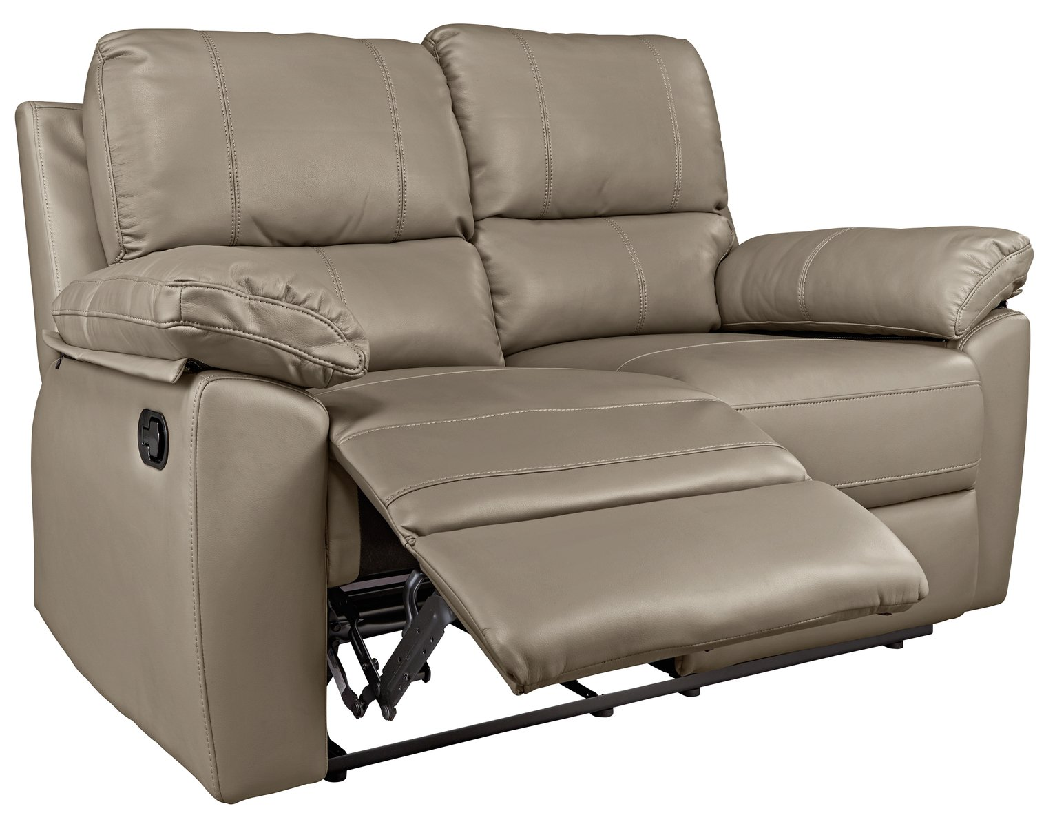 Buy Argos Home Toby 2 Seater Faux Leather Recliner Sofa   Grey   Sofas    Argos