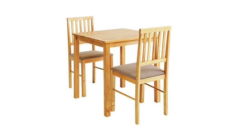 Argos Home Kendal Solid Wood Dining Table & 2 Natural Chairs