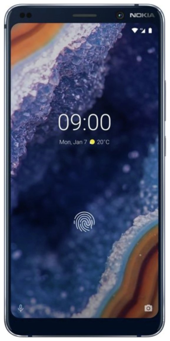 SIM Free Nokia 9 PureView 128GB Mobile Phone -Midnight Blue