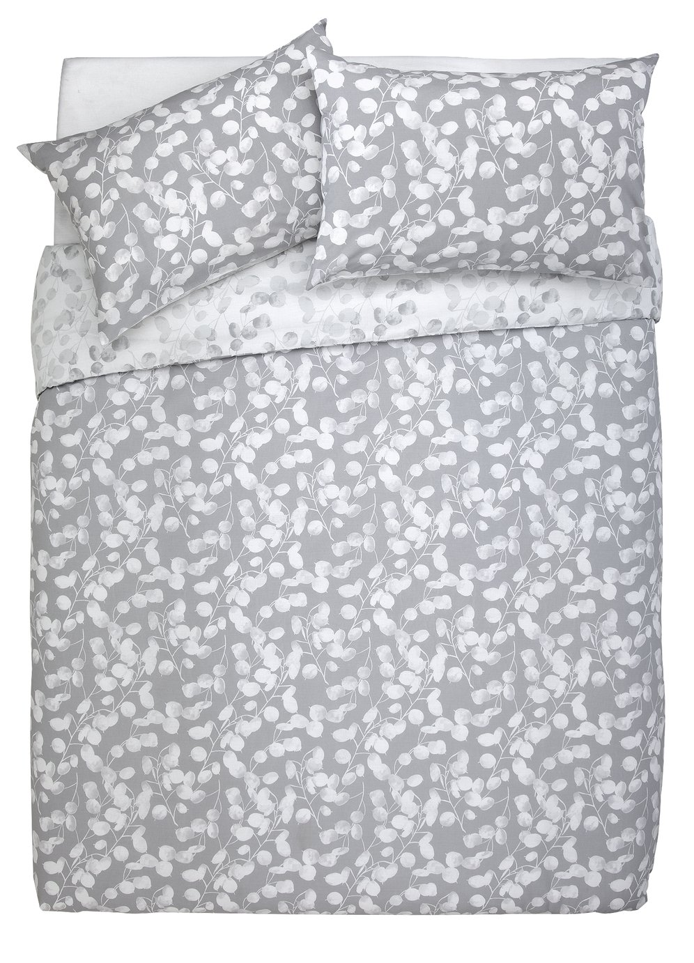 Argos Home Grey Honesty Bedding Set - Double