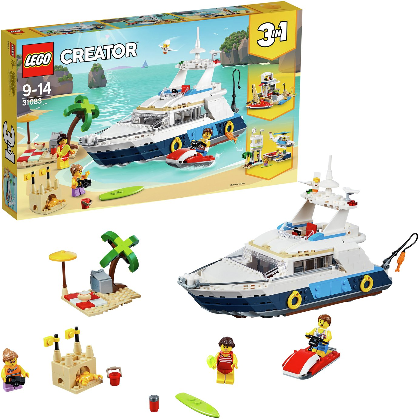 LEGO CREATOR Cruising Adventures 3in1 Model Fun Toy - 31083