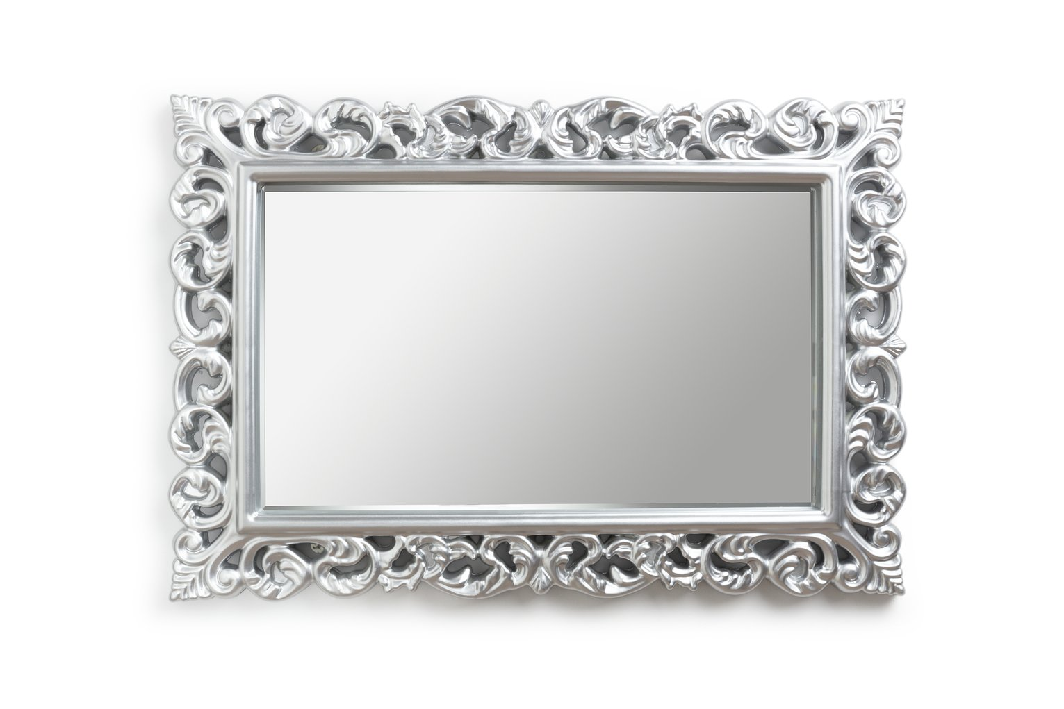 Argos Home Isabella Rectangular High Gloss Mirror - Silver