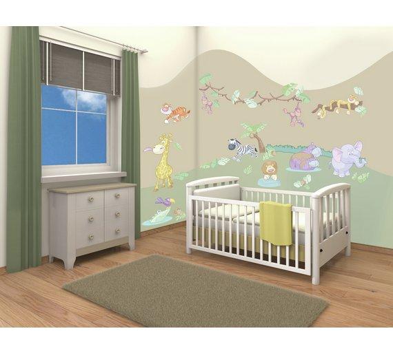 buy walltastic baby jungle safari room decor kit murals and wall