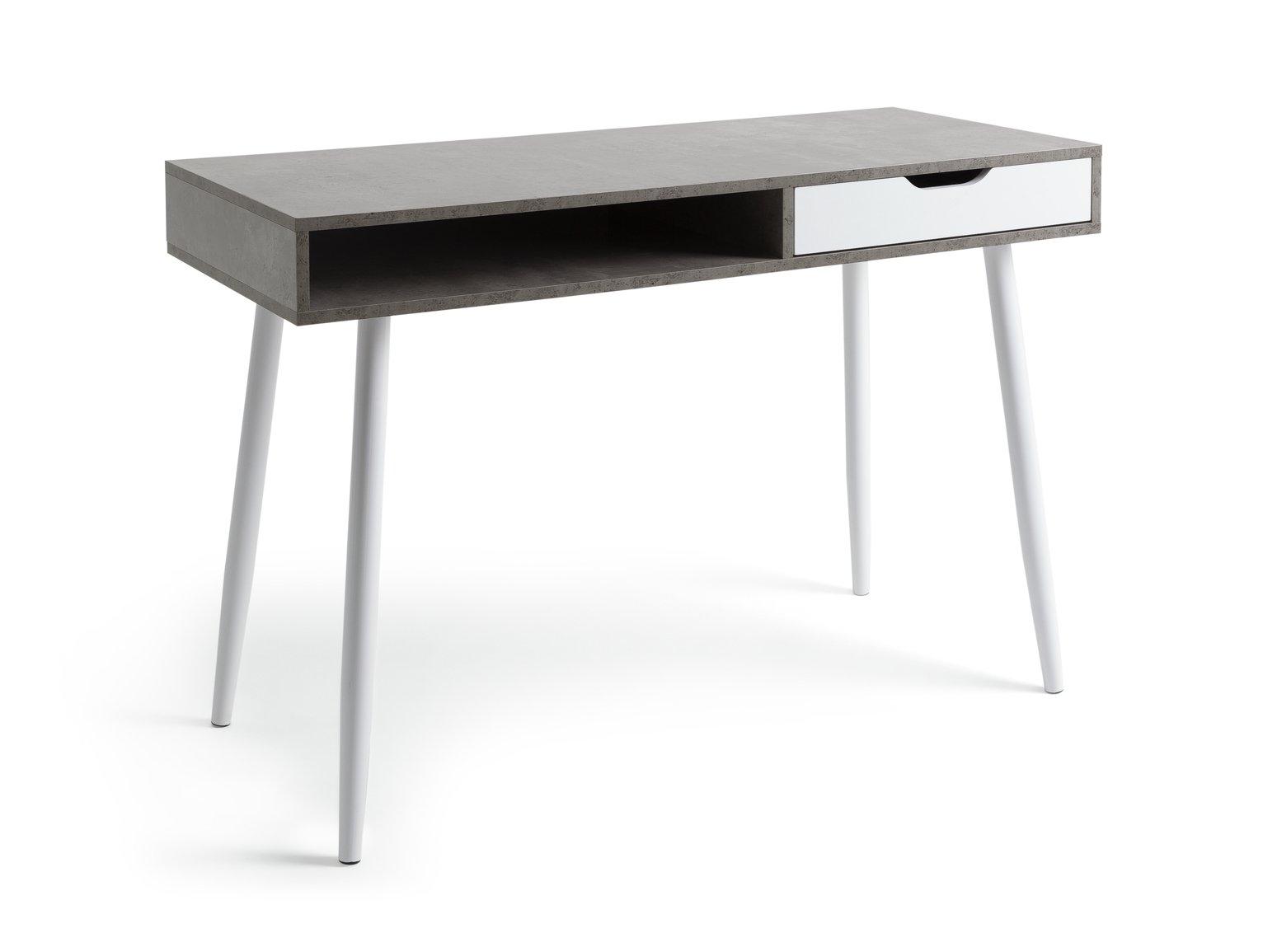 Argos Home Concrete Style Office Desk