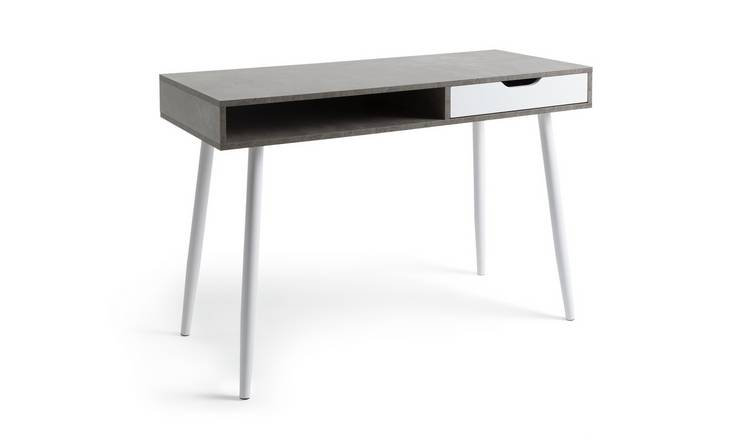 Habitat Concrete Style Office Desk - Grey