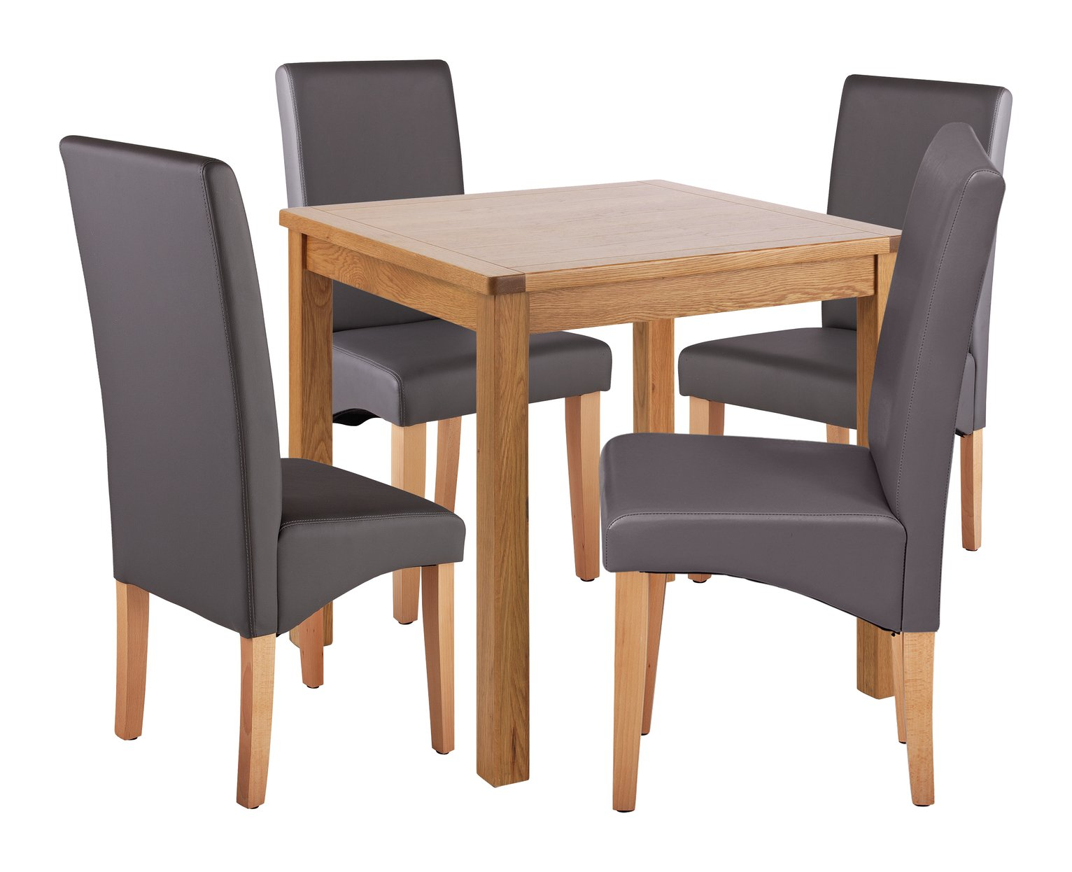 Space Saver Table And Chairs Argos: Hartley Glass Dining Table And 4 Charcoal Chairs