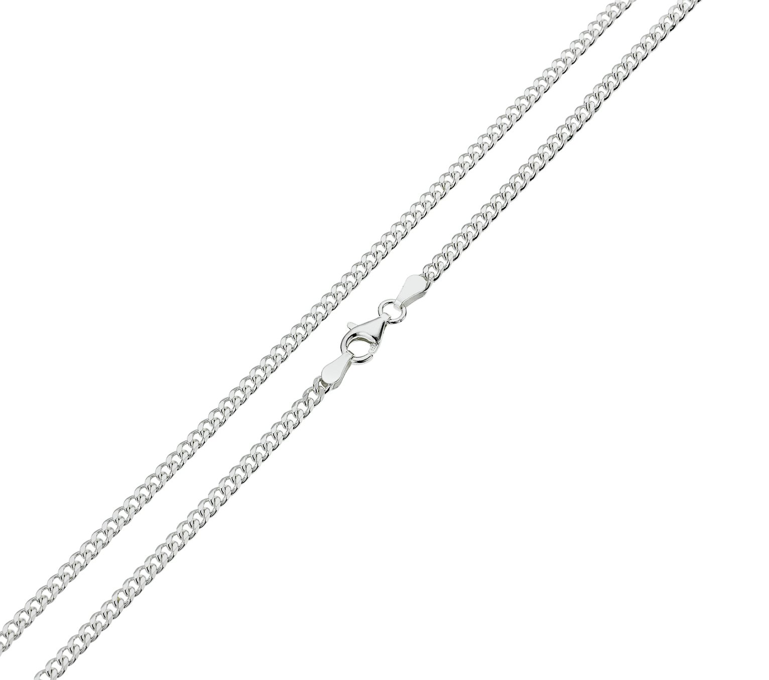 Revere Sterling Silver Solid Curb 18 Inch Chain