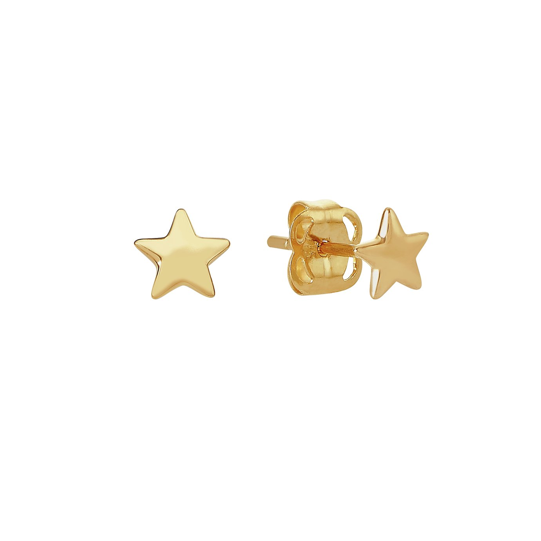 Revere Kid's 9ct Yellow Gold Star Stud Earrings
