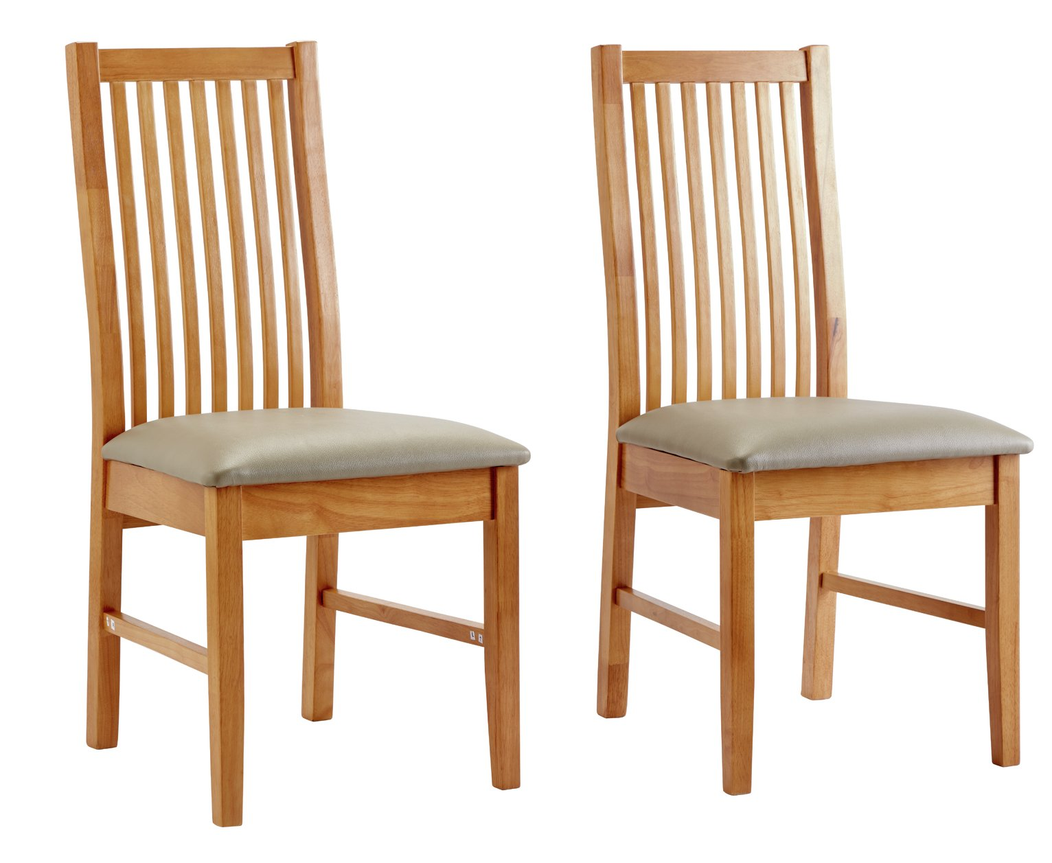 172 & Buy Argos Home Paris Pair of Solid Oak Dining Chairs - Grey | Dining chairs | Argos