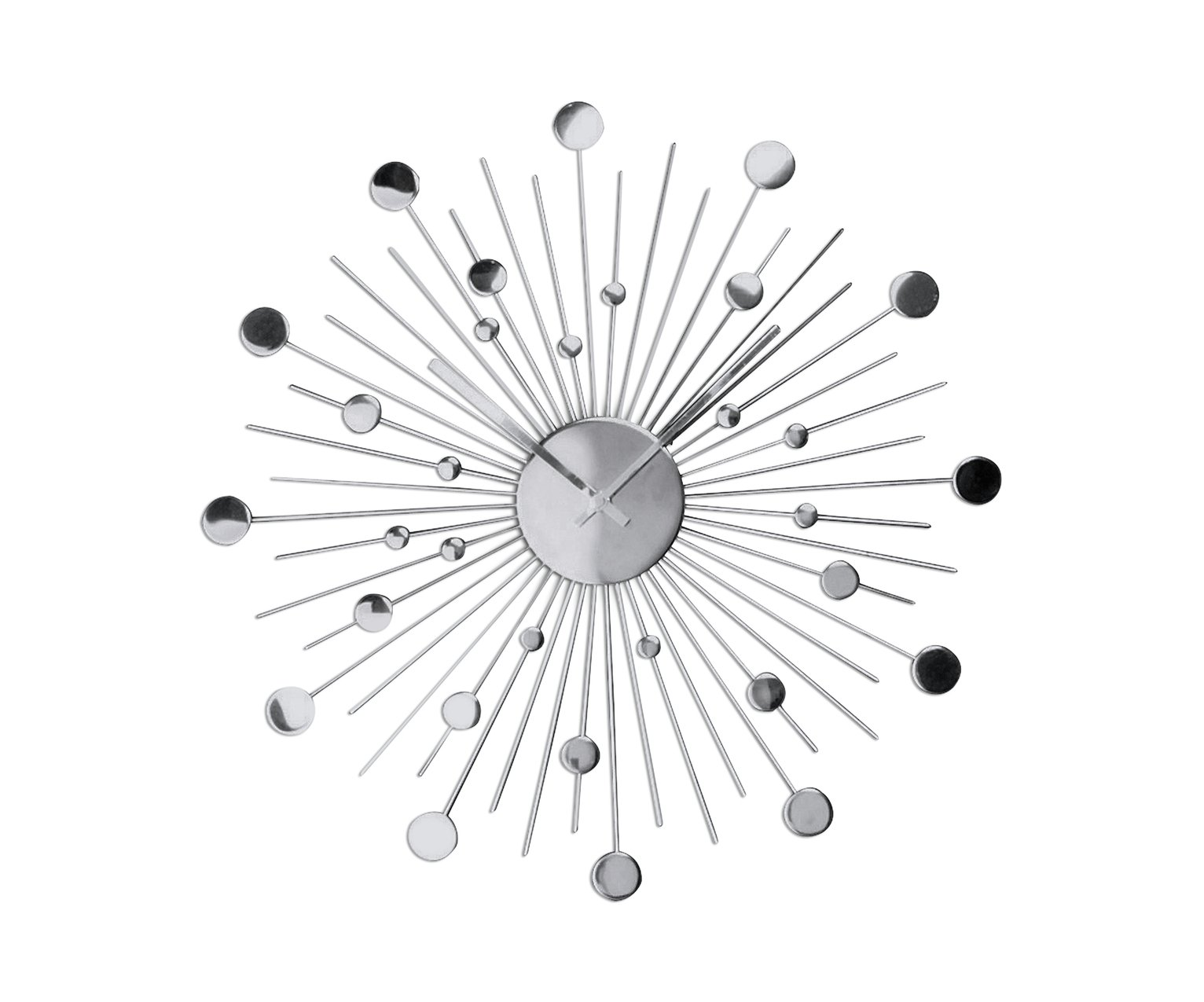 Argos Home Satellite Decorative Wall Clock - Silver