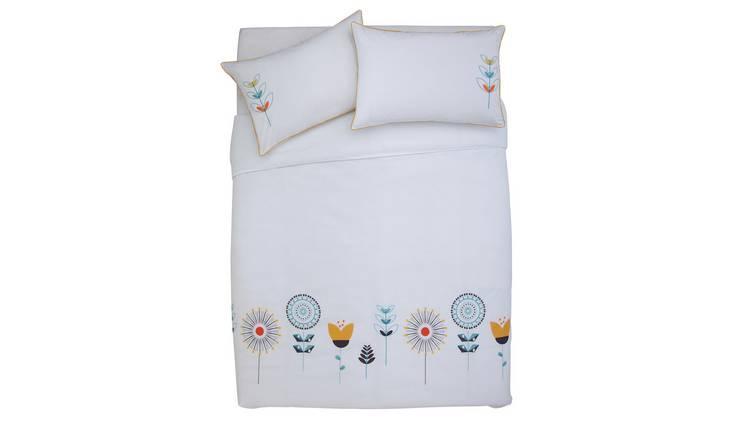 Buy Argos Home Retro Embroidery Bedding Set - Double | Limited stock Home  and garden | Argos