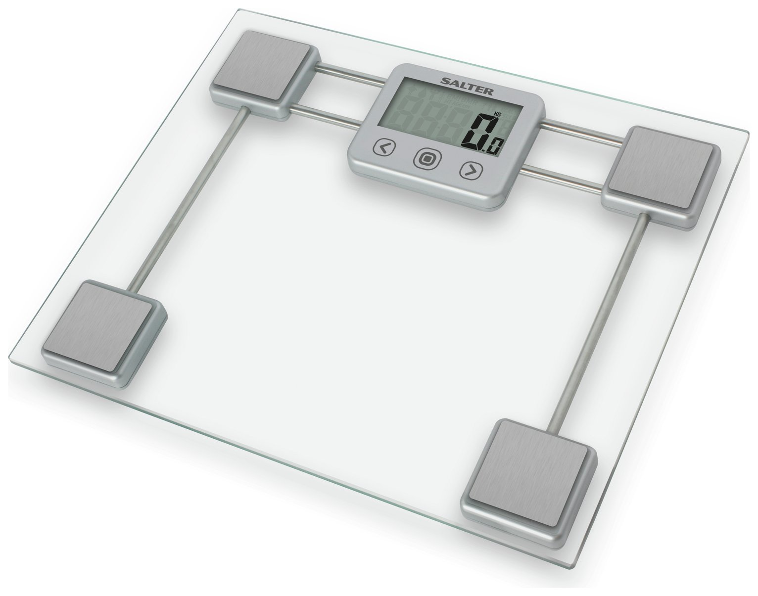 Salter Compact Clear Glass Body Analyser Scale
