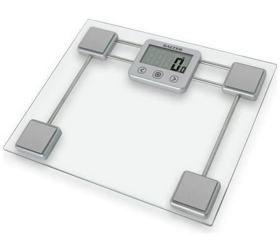 buy salter compact clear glass body analyser scale | bathroom scales ...