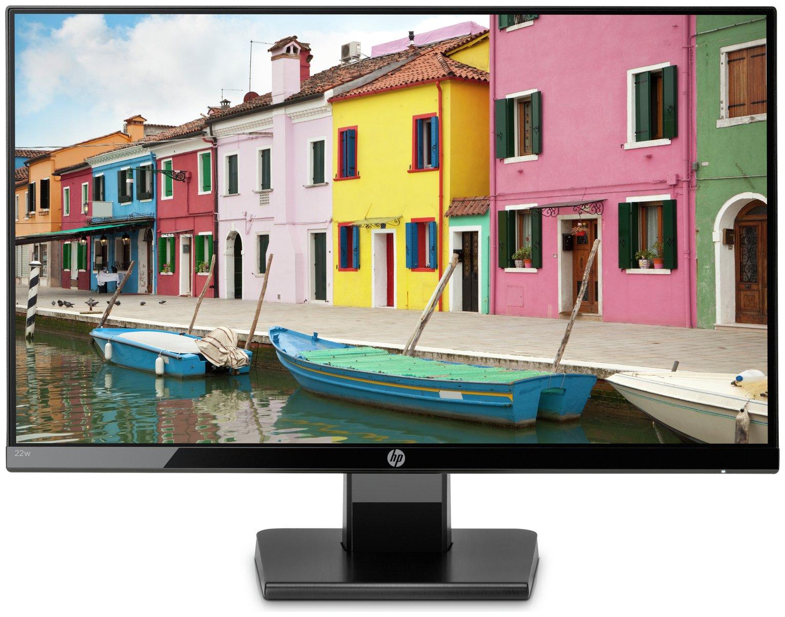 HP 22w 21.5 Inch FHD IPS Monitor - Black