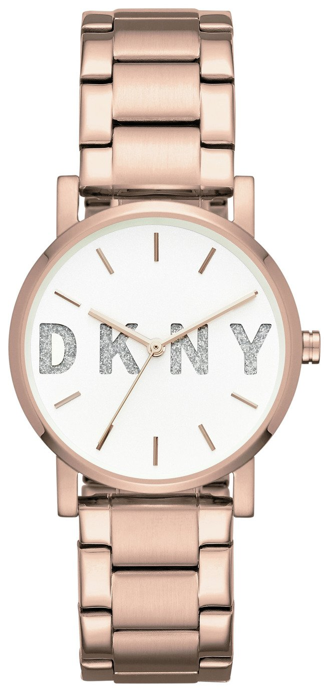 DKNY Ladies' Soho NY2654 Rose Glitter Bracelet Watch