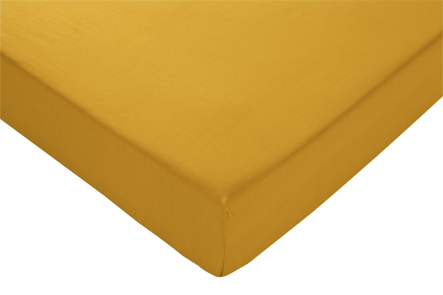 Argos Home Mustard Cotton Rich Fitted Sheet - Double